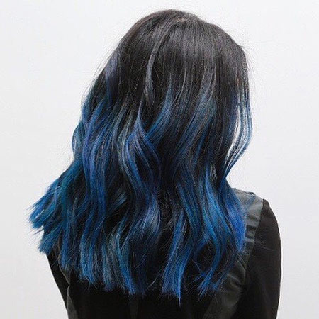 Hair Blue One Face