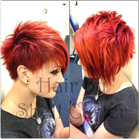 Short Hair Pixie Red