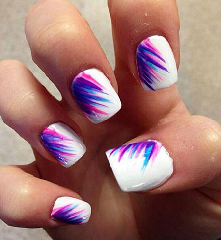 Nail Summer Marble Designs