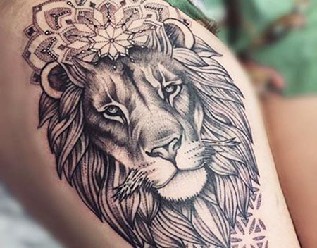 Tattoo Lion Tiger Art