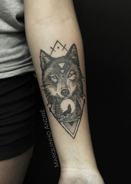 Wolf Tattoo Tattoos Pin