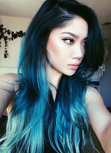 Hair Blue Color Trend