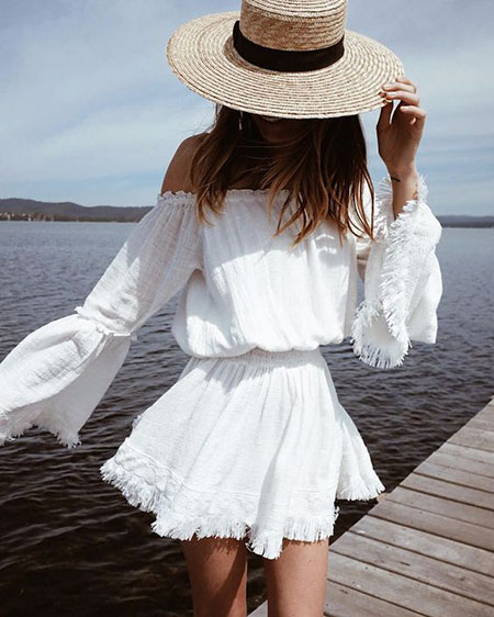 Summer Trendy White Wide