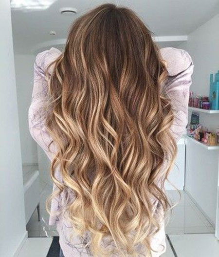Hair Balayage Blonde Length