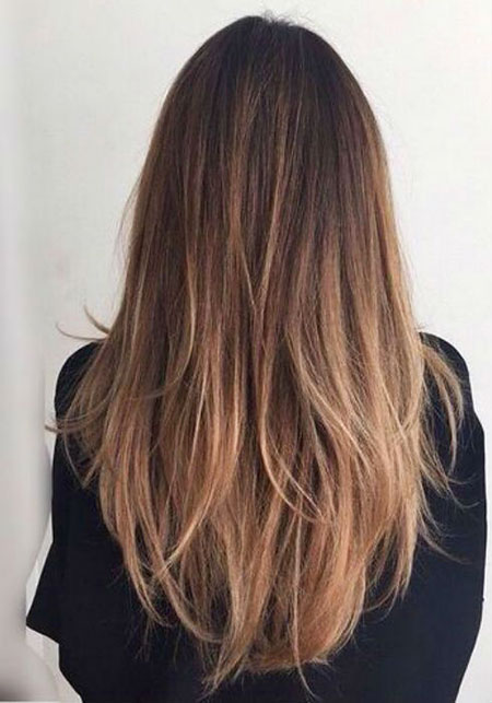 Balayage Hair Straight Brown