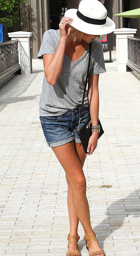 Jean Short Outfits Fashion