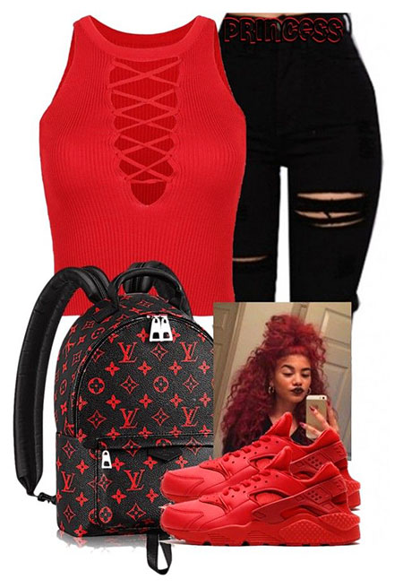 Red Black Fashion Outfits