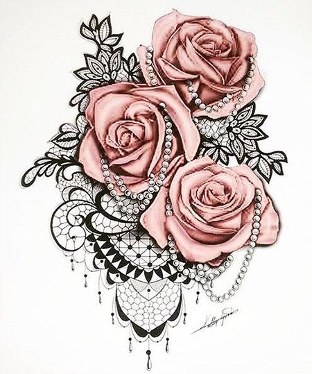 Tattoo Rose Lace Tattoos