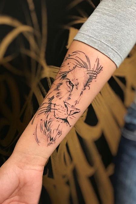 Tattoo Tattoos Lion Line