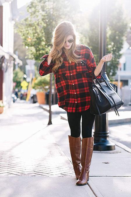 Fashion Winter Fall Red