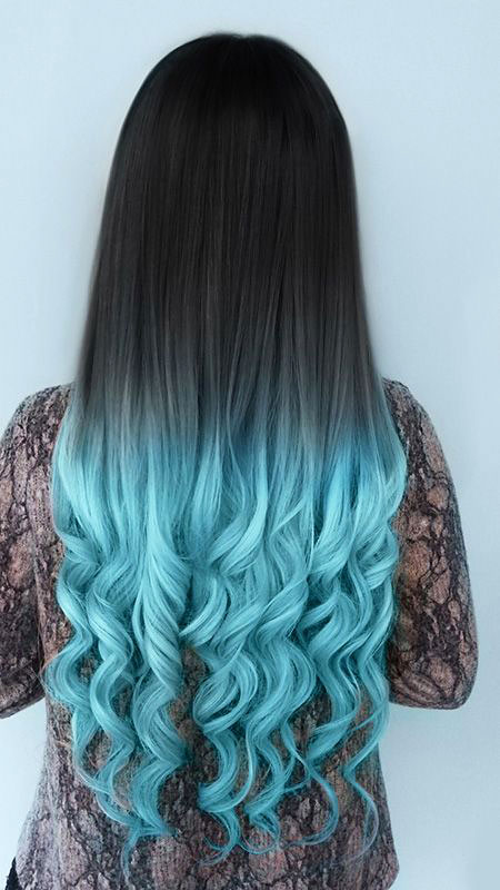 Hair Color Ombre Blue