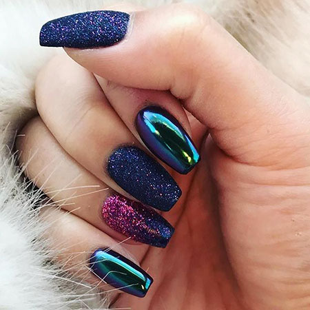 Nail Nails Metallic Designs