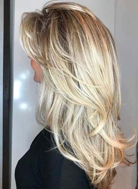 Blonde Long Layered Balayage