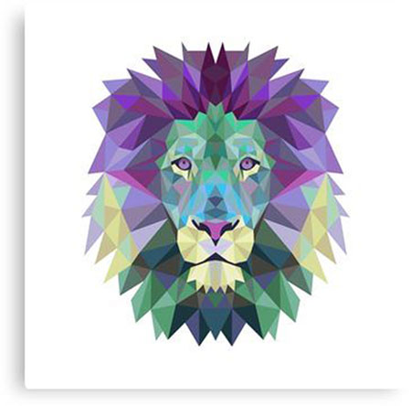 Lion Art Prints Color