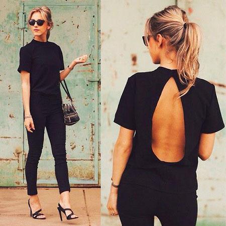 Black All Jeans Dresses