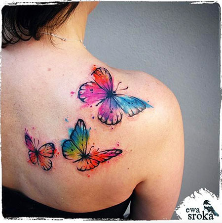 Butterfly Tattoo Watercolor 3D