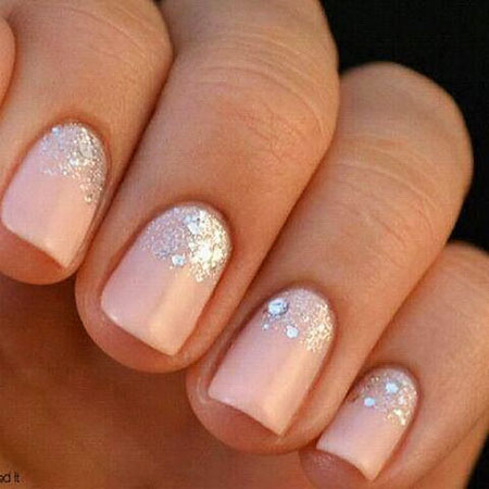 Wedding Nail Sparkle Manicure