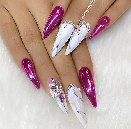 Nails Nail Stiletto White