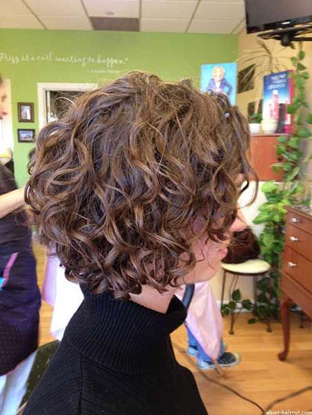 Curly Short Women Golden