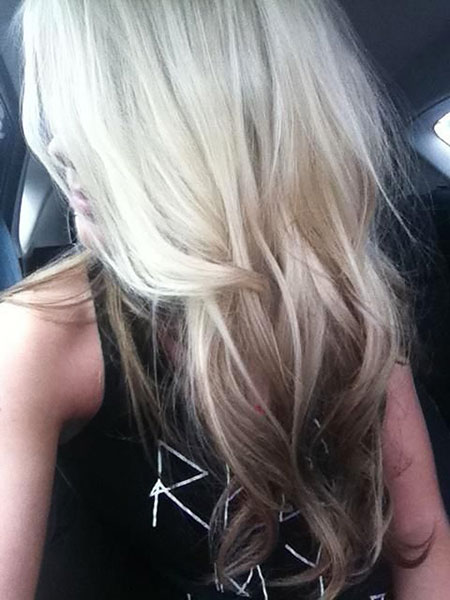 Blonde Hair Choppy Color