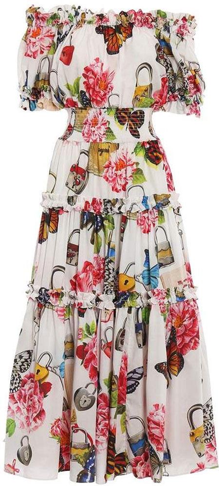 Floweral Gabbana Dolce Dresses