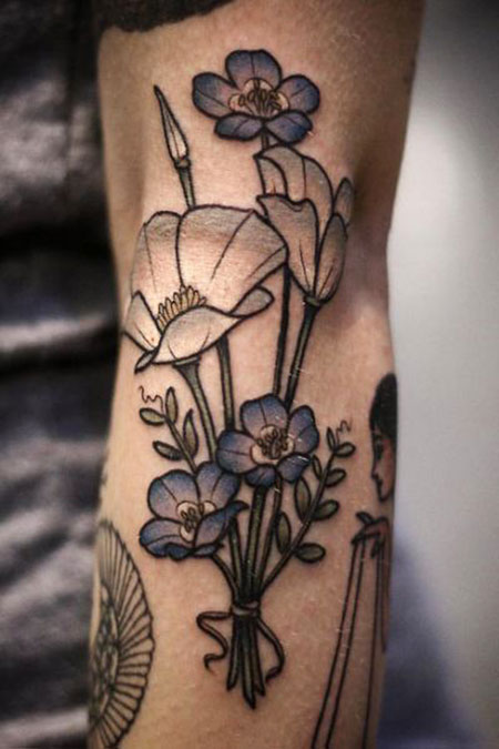 Tattoo Flower Tattoos Blue