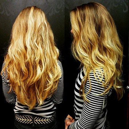 Hair Long Wavy Blonde