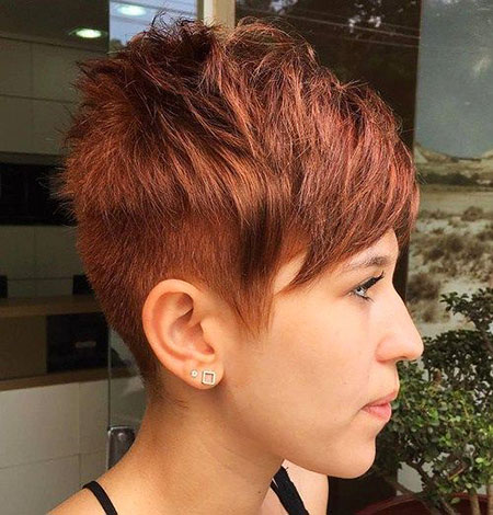 Pixie Short Edgy Burgundy