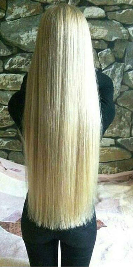 Hair Blonde Long Straight