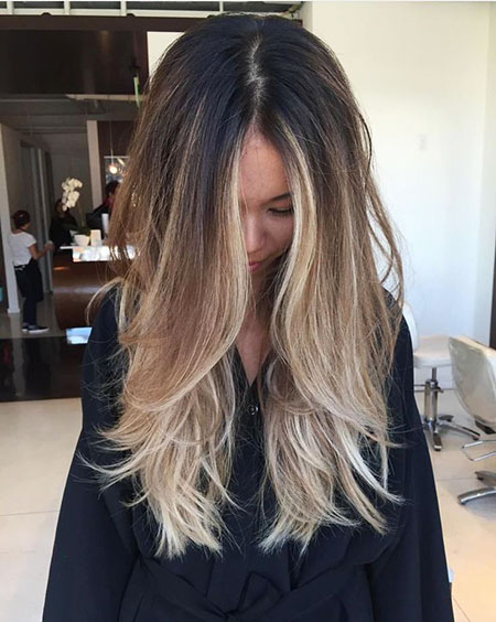 Balayage Hair Blonde Black