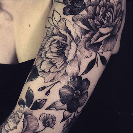 Tattoo Flower White Tattoos