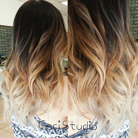 Hair Ombre Color Light