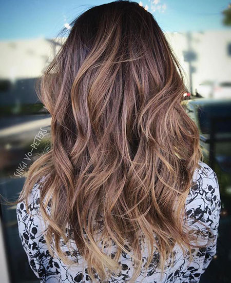 Balayage Hair Brown Shag