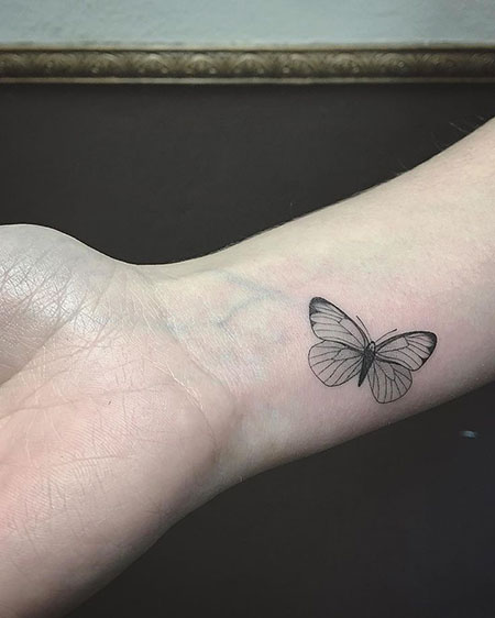 Butterfly Tattoo Minimal Idea