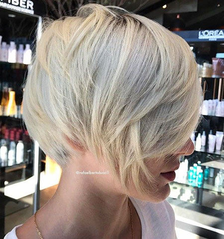 Blonde Pixie Layered Platinum