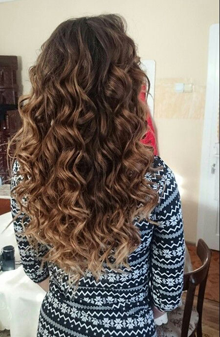 Curly Hair Ombre Brown