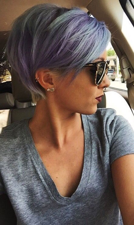 Pixie Purple Short Hair