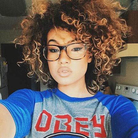 Curly Hair Black Short