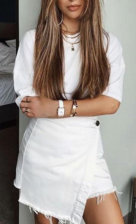 All Long White Brunette