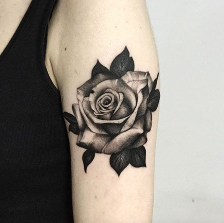 Rose Tattoos Flowers Black