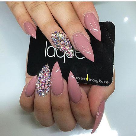 Nails Stiletto Nail Pink