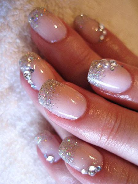 Nail Glitter Nails Bridal