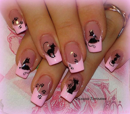 Nail Pink Designs Art