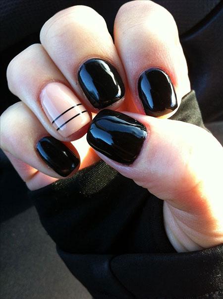 Black Nail Matte Polish