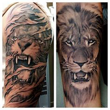 Tattoo Lion Tiger Like
