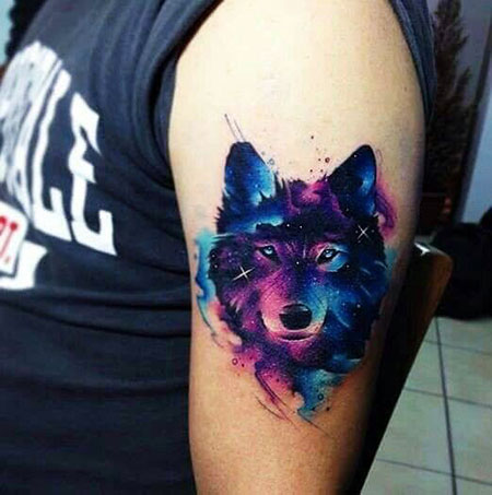 Wolf Watercolor Tattoo Tattoos