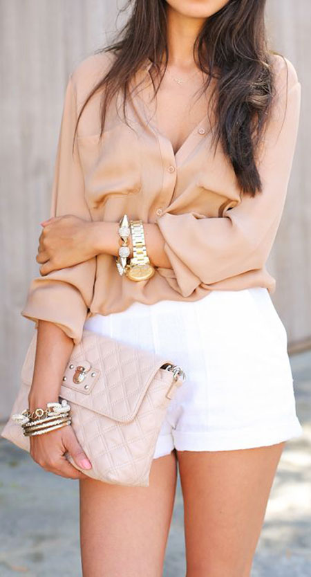 Gold Summer Style White