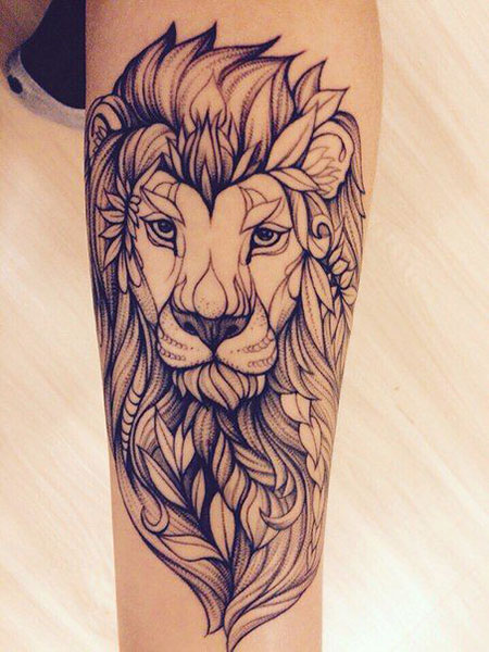17,Female,Lion,Tattoos,on,the,Arm,605 , Styles 2018
