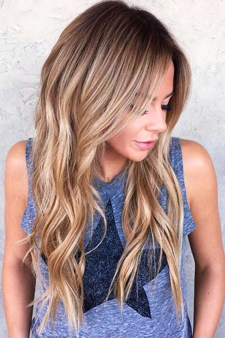 Hair Balayage Blonde Long