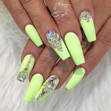 Nails Neon Nail Yellow